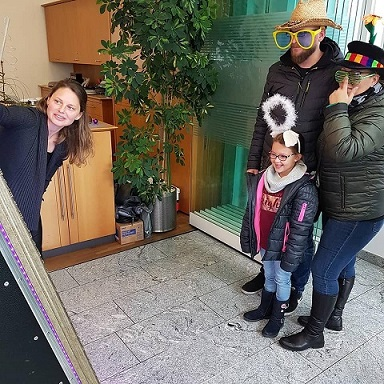 mirror selfie box Raiffeisenbank Pasching